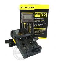 Nitecore Digicharger D2 - Ladestation 2-Fach für Li-Ion Akkus