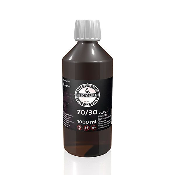 Be Vape Premium - Base VG 70 PG 30 ohne Nikotin 1 Liter