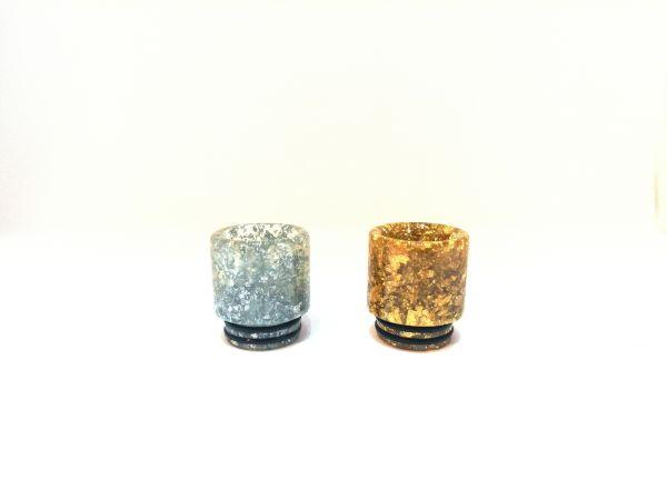 Drip Tip Epoxidharz Gold Silber V1 810er