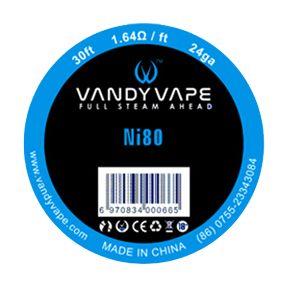 Vandy Vape Ni80 24ga 1.64Ohm 30ft. Wickeldraht