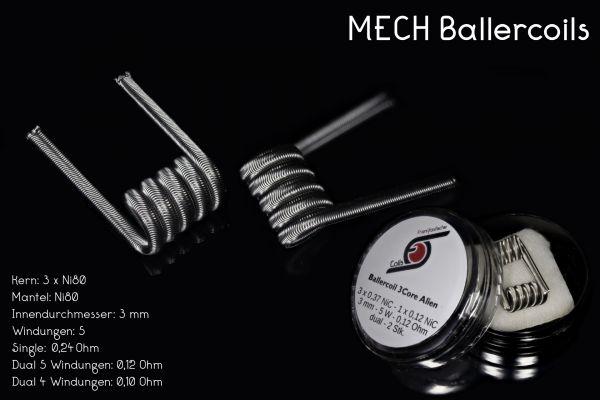 Franktastische - Ballercoil 3Core Alien Ni80 Dualset