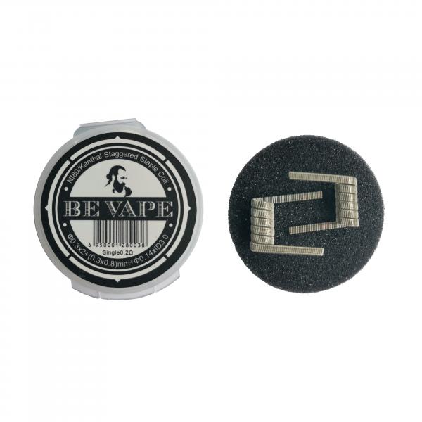 Be Vape Premium - Pre-Built Staggered Staple Coil 2er