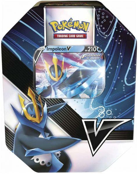 Pokemon - Impoleon-V Kämpfer Tin Box Sammelkarten-Spiel Trading Cards