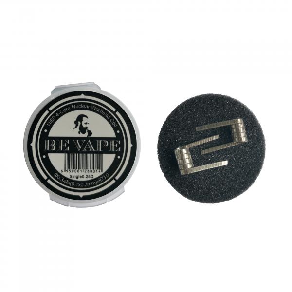 Be Vape Premium - Pre-Built Ni80 4-Core Nuclear Warhead Coil 2er