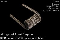 Franktastische - Staggered Fused Clapton Ni80 / V2A Dualset