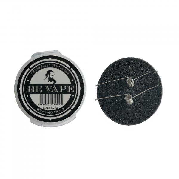 Be Vape Premium - Pre-Built SS316 Fused Clapton MTL Coil 2er