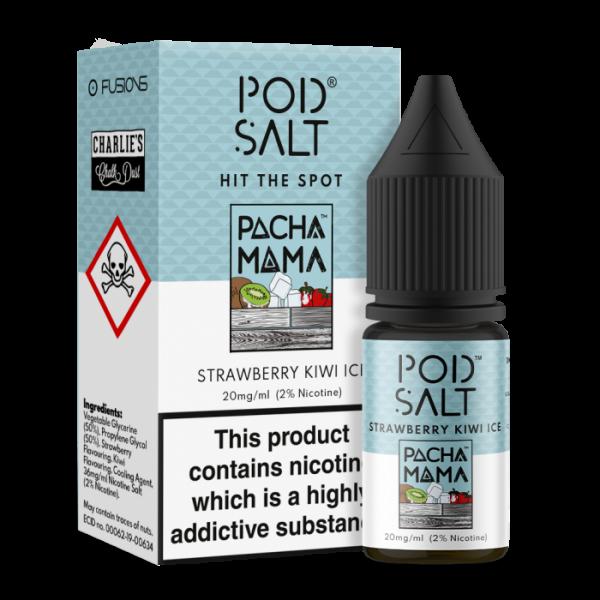 Pod Salt - Fusion - Pacha Mama Strawberry Kiwi Ice 10ml 20mg
